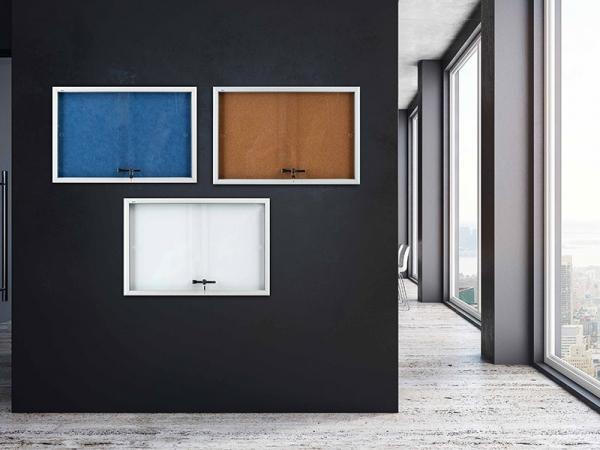 Kancelářské potřeby - Vitrína AVELI informační modrá, 6x A4