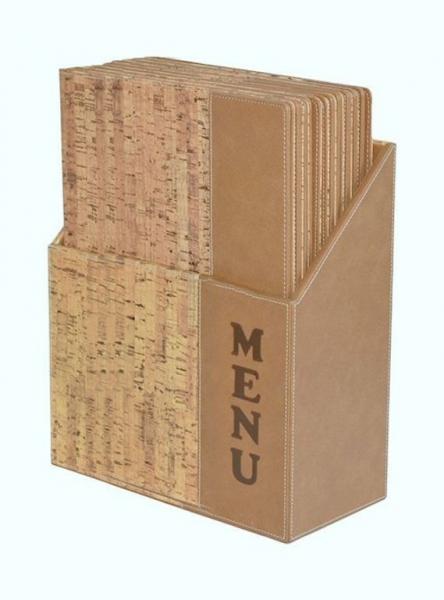 Kancelářské potřeby - Box s jídelními lístky DESIGN, korek 10 ks
