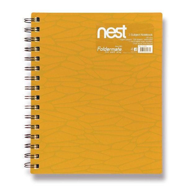 Papír tiskopisy - Spirálový blok FolderMate Nest zlatožlutý