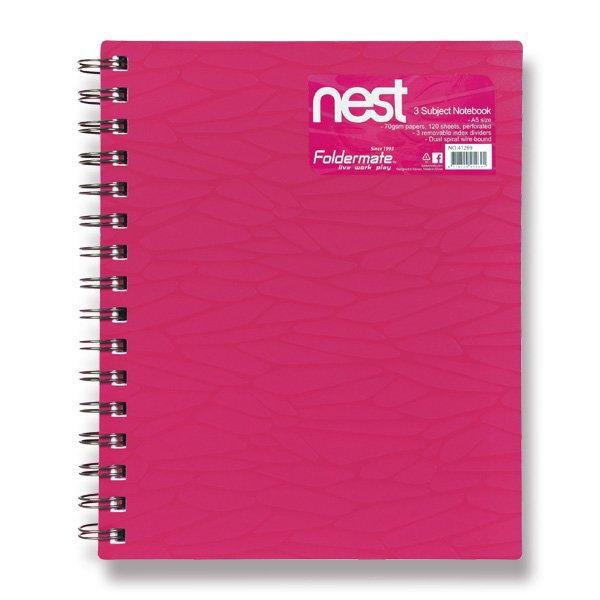 Papír tiskopisy - Spirálový blok FolderMate Nest růžový