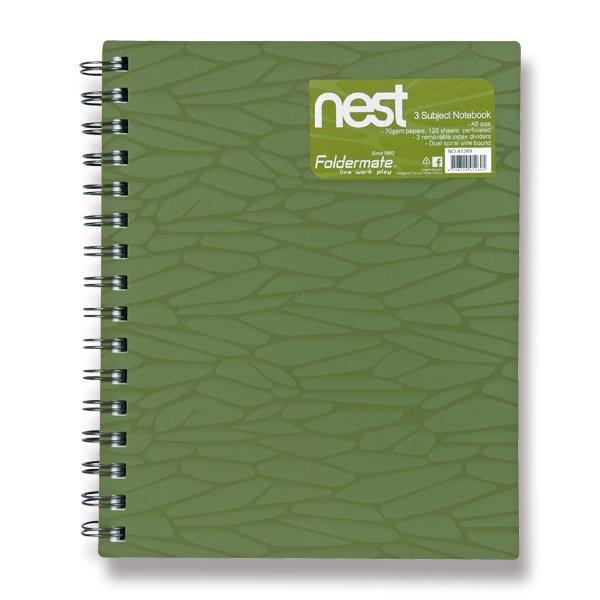 Papír tiskopisy - Spirálový blok FolderMate Nest olivově zelený