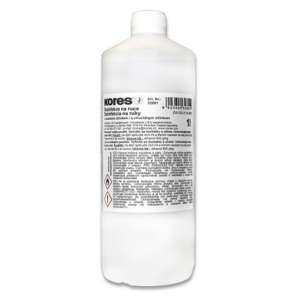 Obalový materiál drogerie - Tekutá dezinfekce Kores na ruce 1 l