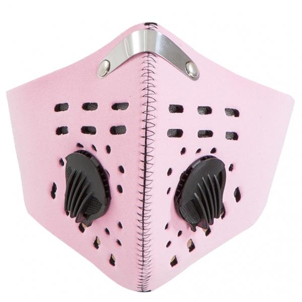 Obalový materiál drogerie - Růžový respirátor s filtrem KN95