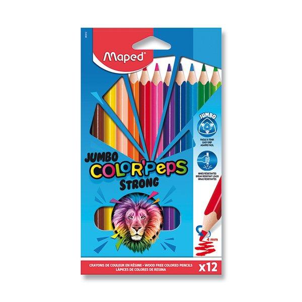 Psací potřeby - Pastelky Maped Color´Peps Strong Jumbo 12 barev