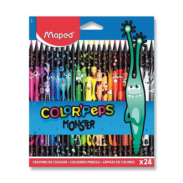 Psací potřeby - Pastelky Maped Color´Peps Monster 24 barev