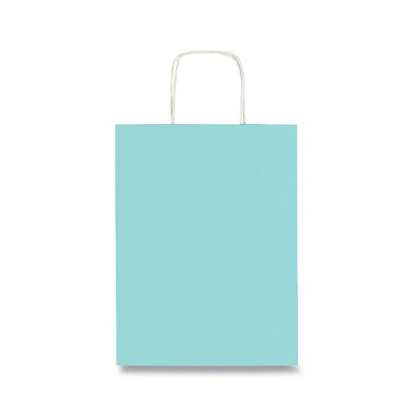 Obalový materiál drogerie - Dárková taška Tinta Unita Pastel akvamarín, S