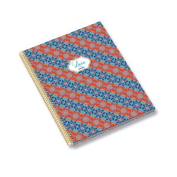Papír tiskopisy - Kružkový blok Ambar Lusa Tile A5, linkovaný, 120 listů, mix motivů