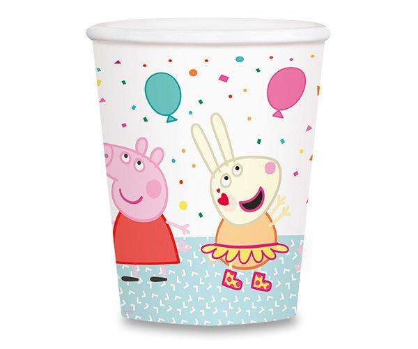 Školní a výtvarné potřeby - Papírové kelímky Peppa Pig objem 0,25 l, 8 ks