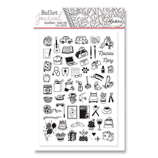 Školní a výtvarné potřeby - Razítka Stampo Bullet Aladine - Můj den 59 ks
