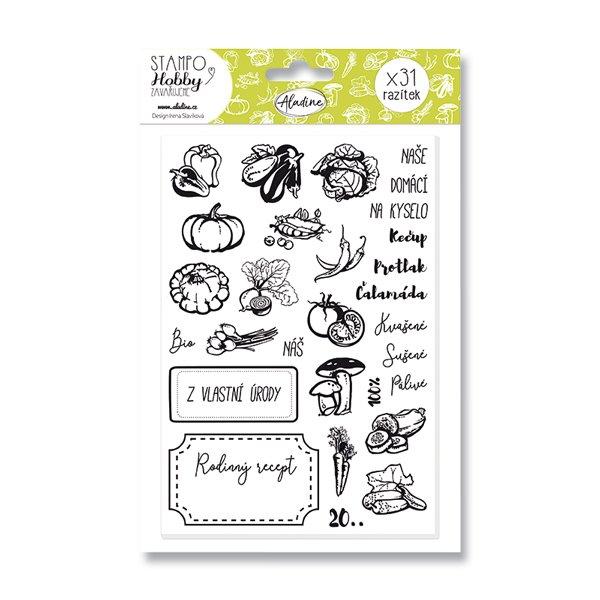 Školní a výtvarné potřeby - Razítka Stampo Hobby - Zavařujeme 31 ks
