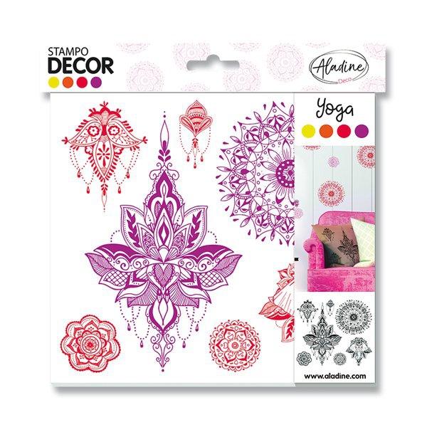 Školní a výtvarné potřeby - Razítka Aladine Stampo Decor - Jóga 7 ks