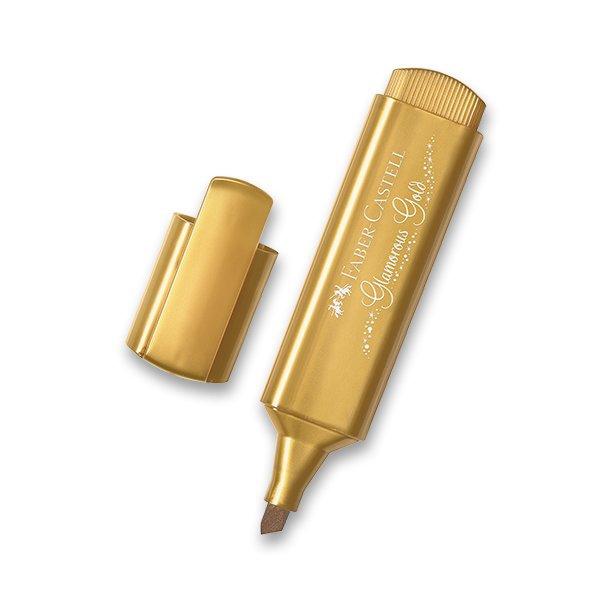 Psací potřeby - Zvýrazňovač Faber-Castell Textliner 46 Metallic metalický zlatý