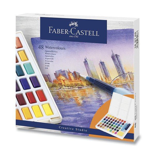 Psací potřeby - Vodové barvy Faber-Castell s paletkou 48 barev