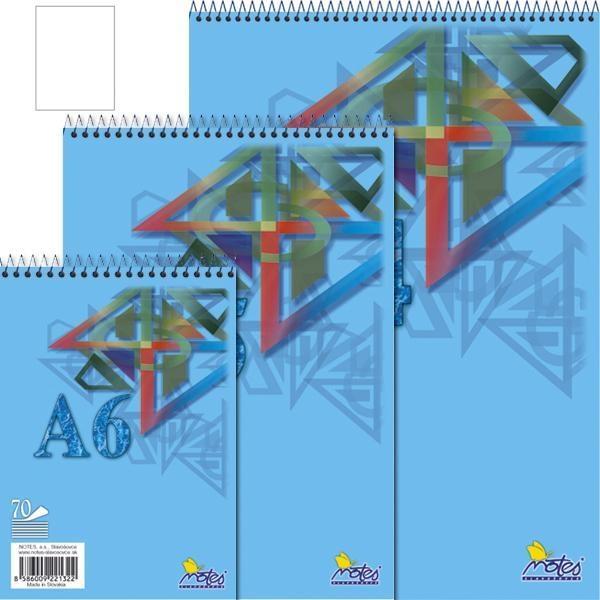 Papír tiskopisy - Spirálový blok A4 70 listů