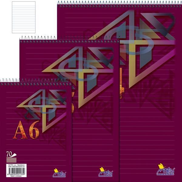 Papír tiskopisy - Spirálový blok A5 70 listů