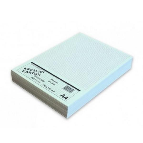 Papír tiskopisy - Kreslící karton bílý čtvereček - A4/ 220g/ 200ks