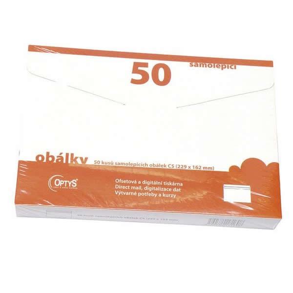 Papír tiskopisy - Samolepicí obálky C5, 50 ks