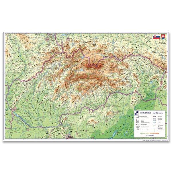 Školní a výtvarné potřeby - Podložka na stůl - Mapa Slovenské republiky 60 x 40 cm