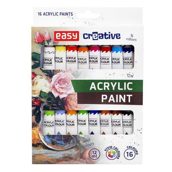 Školní a výtvarné potřeby - Akrylové barvy 16 ks