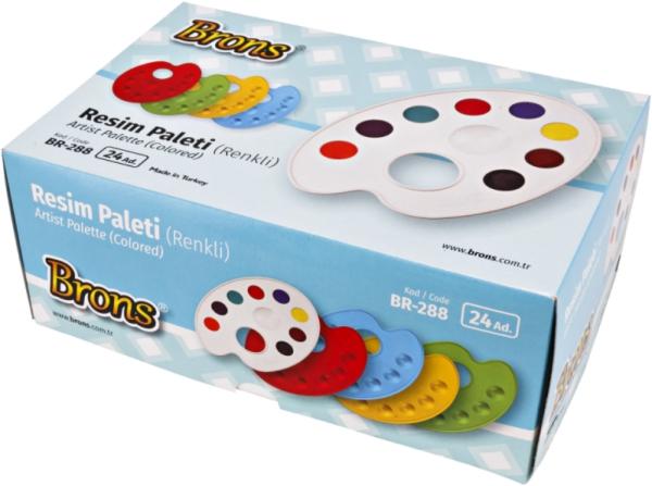 Školní a výtvarné potřeby - Paleta BR-289 výtvarná L mix barev