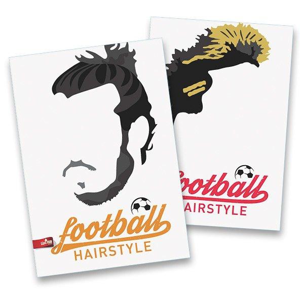Školní a výtvarné potřeby - Školní sešit Football Hairstyles A4, linkovaný, 40 listů, mix motivů