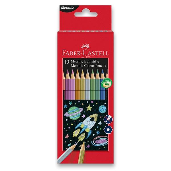 Psací potřeby - Pastelky Faber-Castell 10 barev, metalické