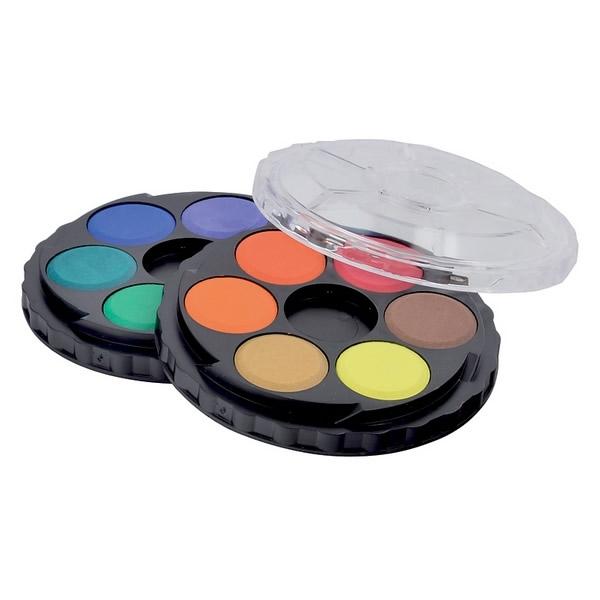 Školní a výtvarné potřeby - Vodové barvy kulaté 12 barev, 22,5 mm - 171503