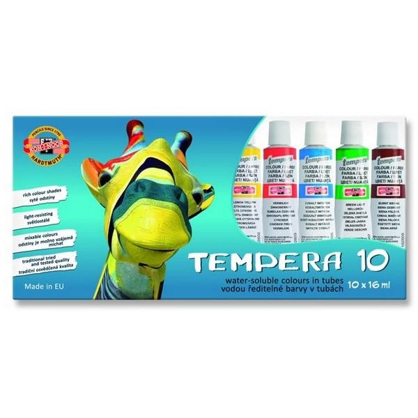 Školní a výtvarné potřeby - Temperové barvy Koh-i-noor - 10ks, 16ml