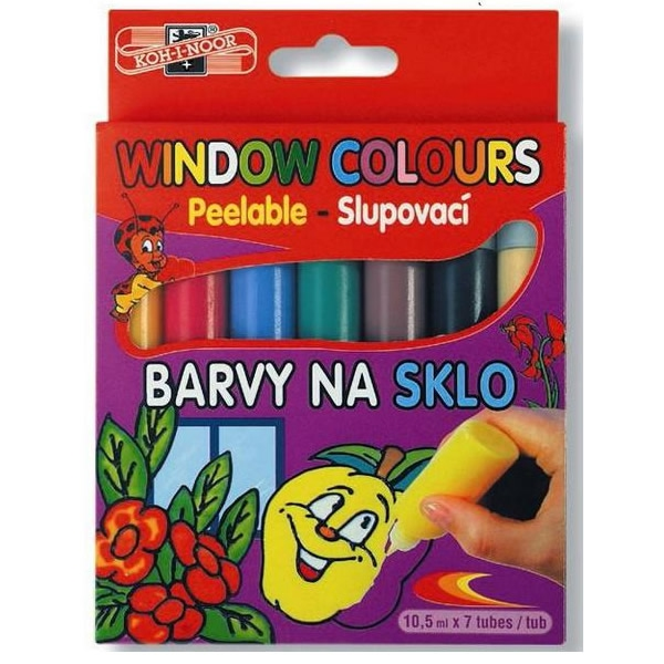 Školní a výtvarné potřeby - Souprava barev na sklo - window colours KOH-I-NOOR 7x10,5 ml