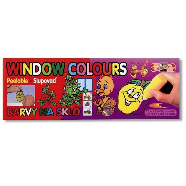 Školní a výtvarné potřeby - Souprava barev na sklo - window colours KOH-I-NOOR 9x22 ml