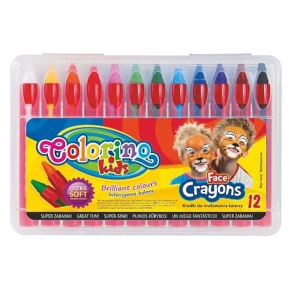Školní a výtvarné potřeby - Barvy na obličej Colorino 12ks x 4,5g