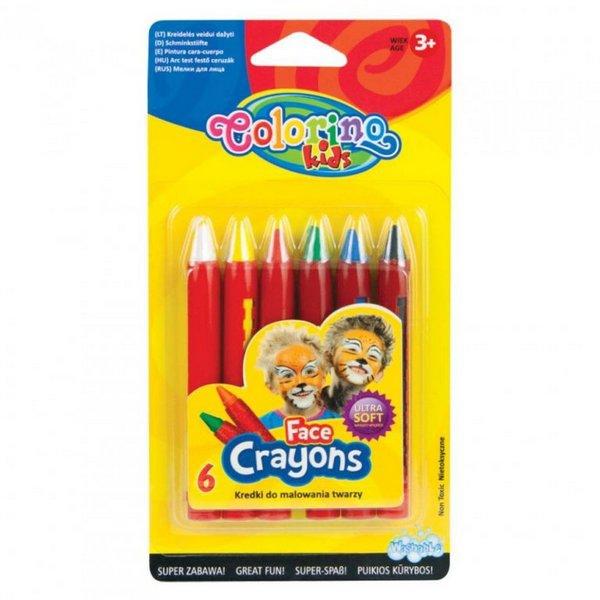 Školní a výtvarné potřeby - Barvy na obličej Colorino 6ks x 4,5g
