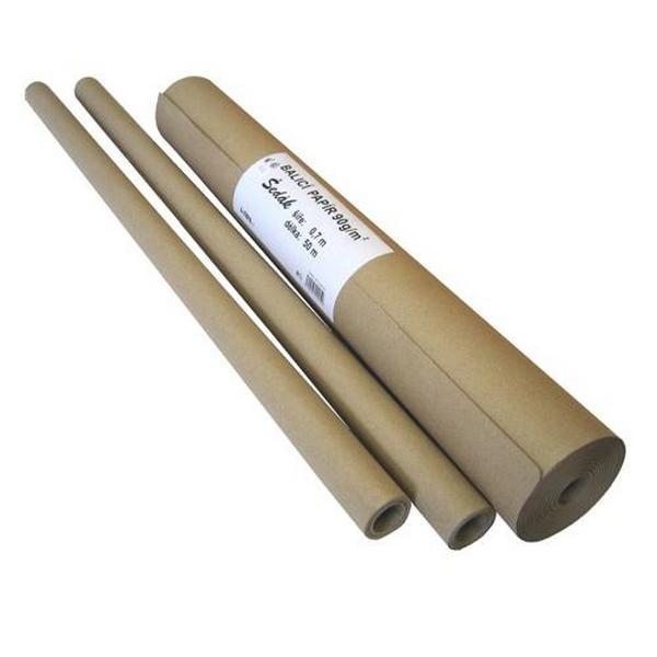 Obalový materiál drogerie - Balicí papír šedák - 90g, 100cm x 5m