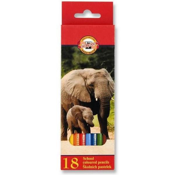 Psací potřeby - Pastelky Koh-i-noor 3553 - 18 barev, dlouhé