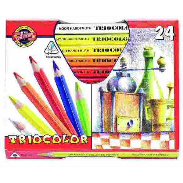 Psací potřeby - Pastelky Koh-i-noor,silné trojhranné 3154 - 24 barev