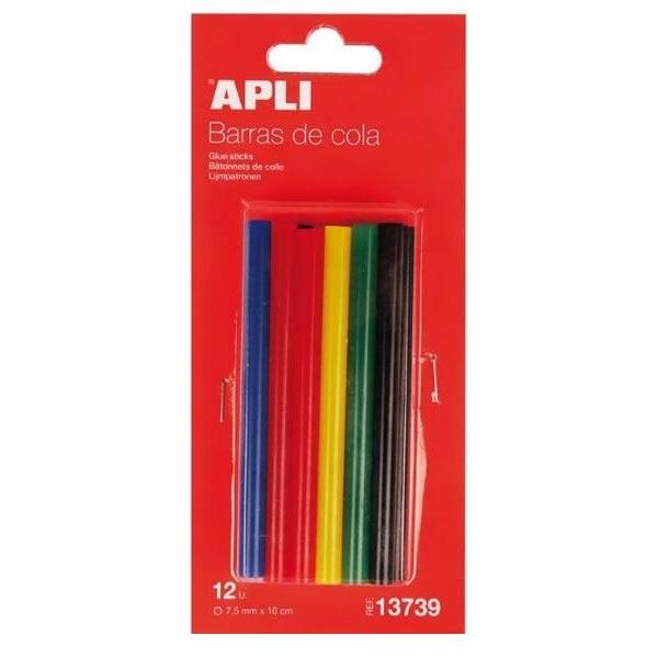 Školní a výtvarné potřeby - Tyčinky tavné barevné  - 7,5mm, 12ks