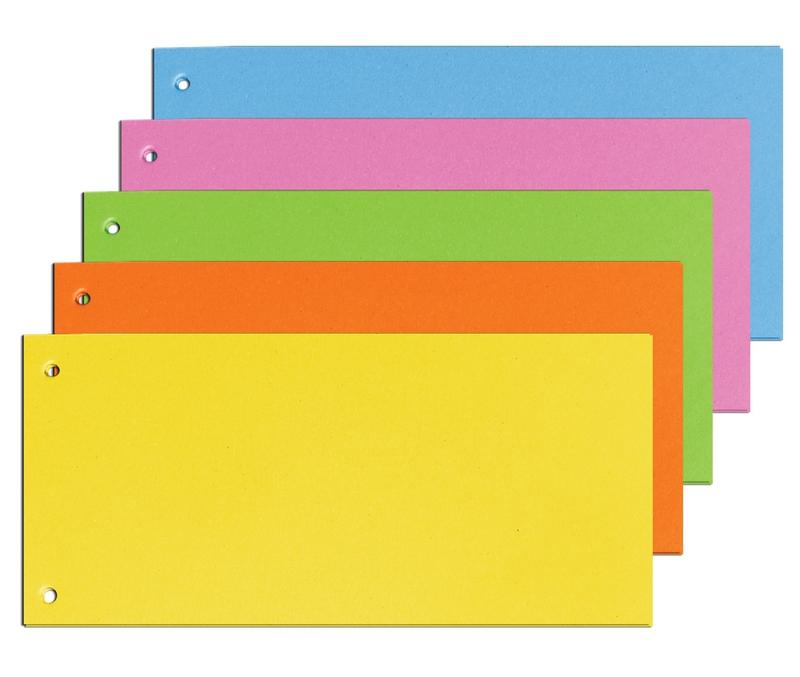 Třídění a archivace - Rozlišovač Brilliant 10,5x24cm Assort 5barev 100ks