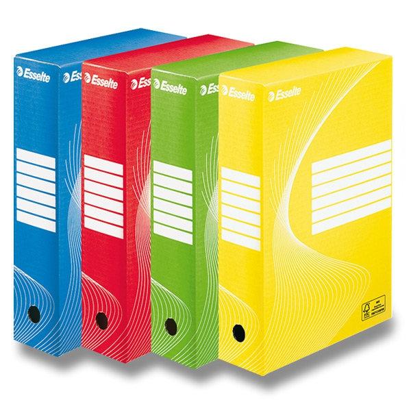 Třídění a archivace - Archivační krabice Esselte - 80mm