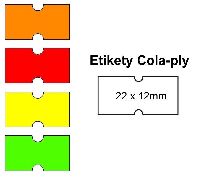 Papír tiskopisy - Cenové etikety Cola-ply 22x12 mm