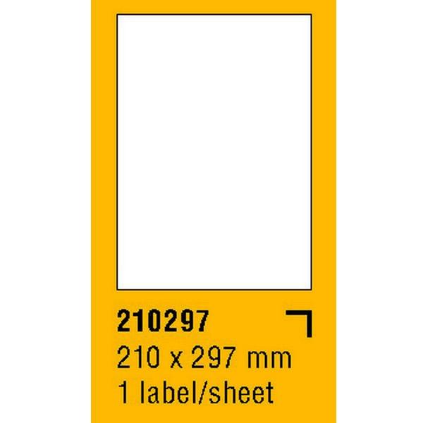 Papír tiskopisy - Etikety na archu SOREX - A4, 210 x 297mm, 100 etiket
