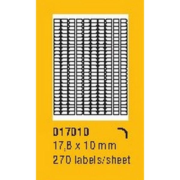 Papír tiskopisy - Etikety na archu SOREX - A4, 17,8 x 10mm, 27000 etiket