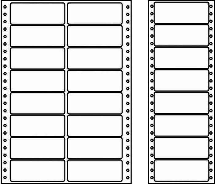 Papír tiskopisy - Etikety s vodící perforací - 3 řady, 70x36mm, 12000 etiket
