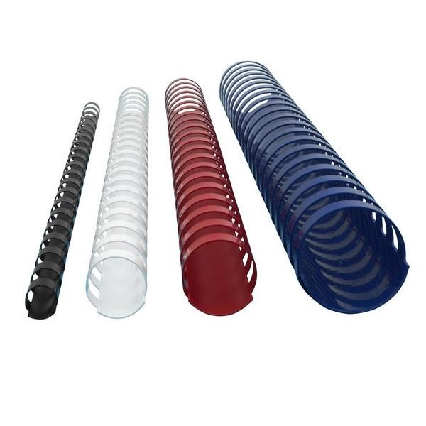 Kancelářská technika - Plastové hřbety - 10 mm, 100 kusů