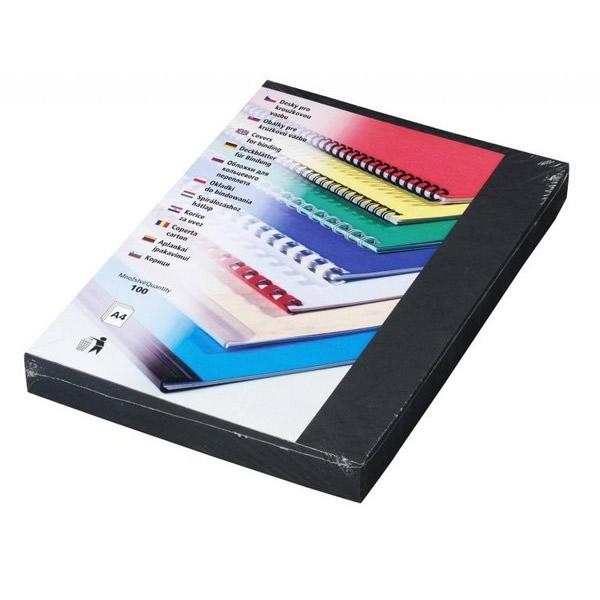 Kancelářská technika - Desky kartonové Delta A4 černé, 100ks