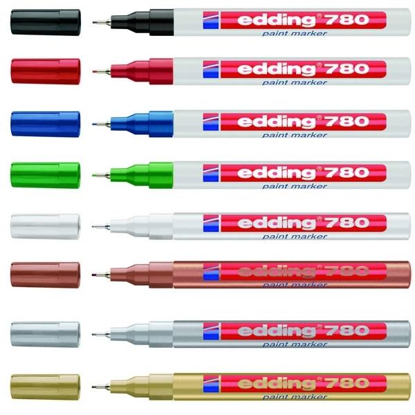 Psací potřeby - Popisovač lakový Edding 780 - 10ks