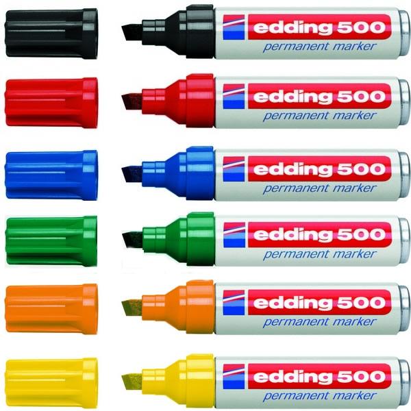 Psací potřeby - Popisovač permanentní Edding 500 - 10ks