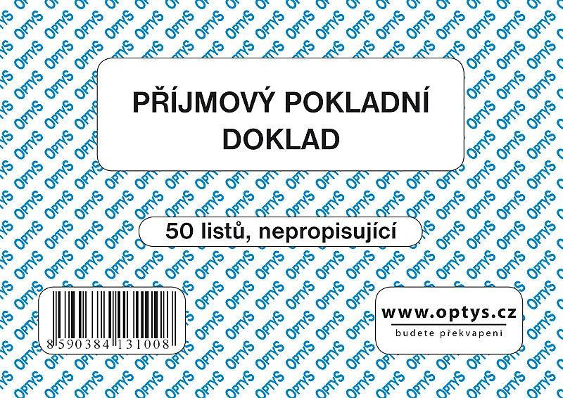Papír tiskopisy - Příjmový doklad A6, jednoduchý, 50 listů