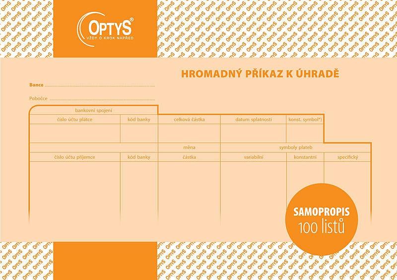Papír tiskopisy - Hromadný příkaz k úhradě A5, samopropisovací, 100 listů