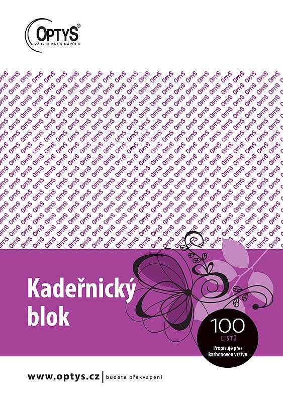 Papír tiskopisy - Kadeřnický blok Karbon A5