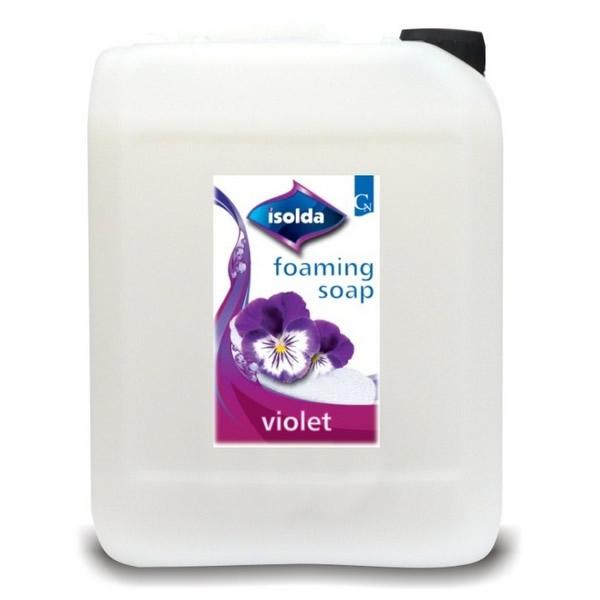 Obalový materiál drogerie - Isolda pěnové mýdlo VIOLET - 5l